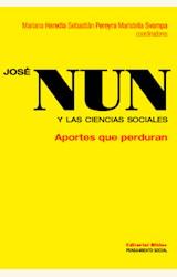 Papel JOSÉ NUN Y LAS CIENCIAS SOCIALES. APORTES QUE PERDURAN
