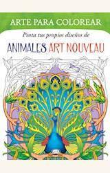 Papel ARTE PARA COLOREAR ANIMALES ART NOUVEAU