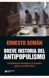 Papel BREVE HISTORIA DEL ANTIPOPULISMO