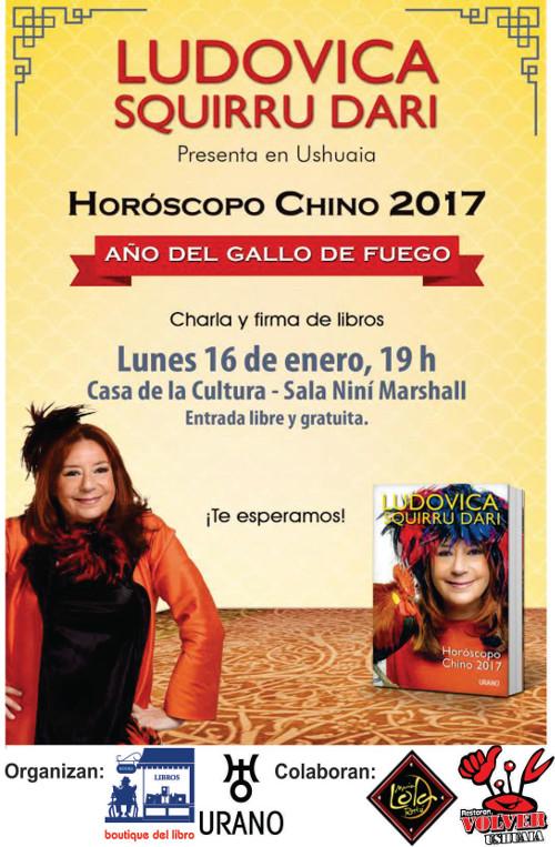 Ludovica Squirru Dari presenta en Ushuaia Horóscopo Chino 2017
