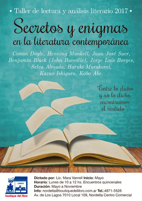 Taller de lectura y análisis literario