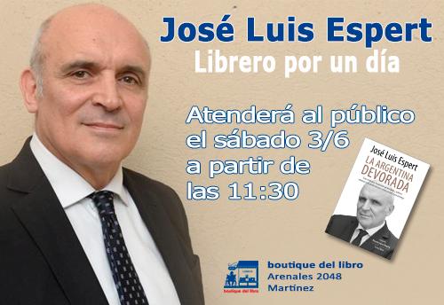 José Luis Espert, librero por un día