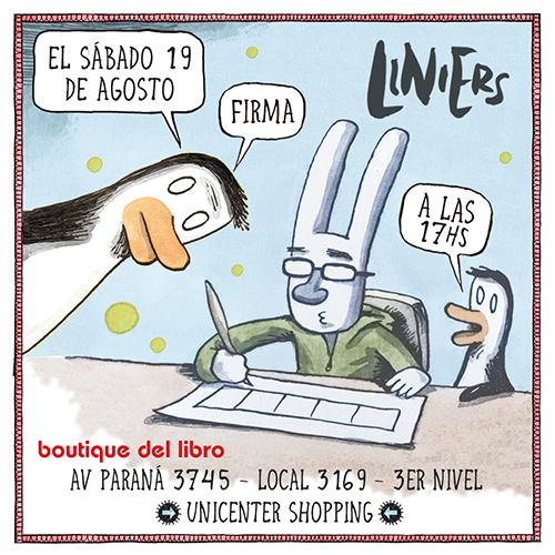 Liniers firma ejemplares y dialoga con el público