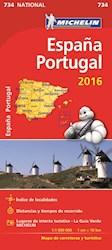 ESPAÑA Y PORTUGAL MAPA RUTERO 2016
