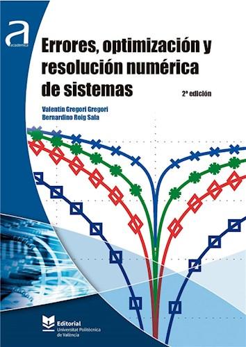 Errores, optimización y resolución numérica de sistemas